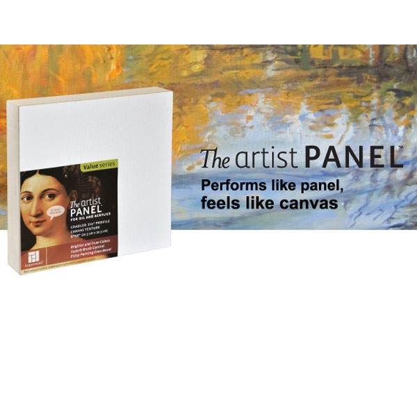 Value Canvas Texture Wood Painting Panel by Ampersand 3//8 Flat Profile 6x12