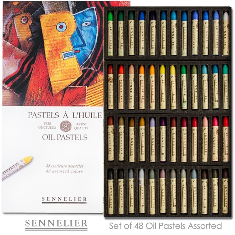 50//Set Assorted Oil Pastel Set With Carrying Case,45-Color Set