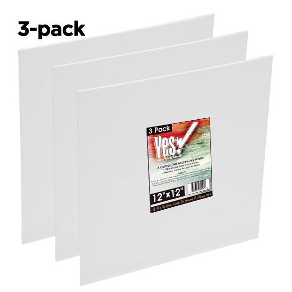 Product Catalog: Paper Media, Canvas /& Surfaces 3 Pack 10 x 12 White Canvas Pad
