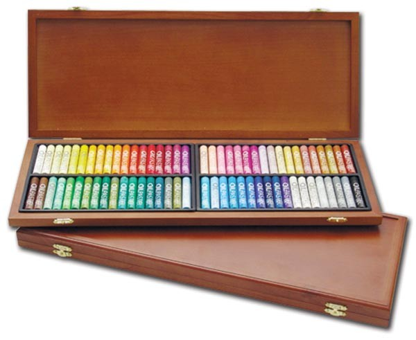 Mungyo Gallery Oil Pastels Wood Box Set of 72Assorted Colors