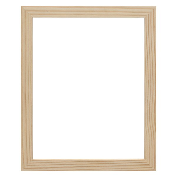 ambiance unfinished gallery deep wood frames - Natural Frame