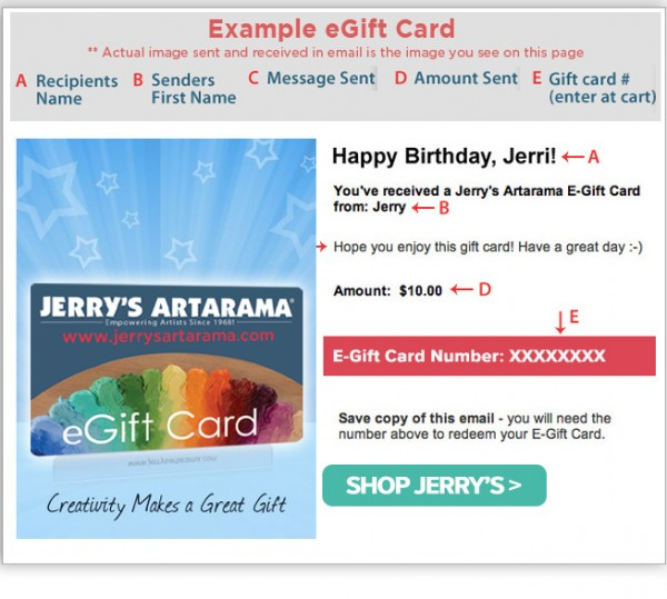 They Receive Via Email Address And Can Shop Online At JerrysArtarama A Special Code Is Provided When Received To Be Entered The Cart