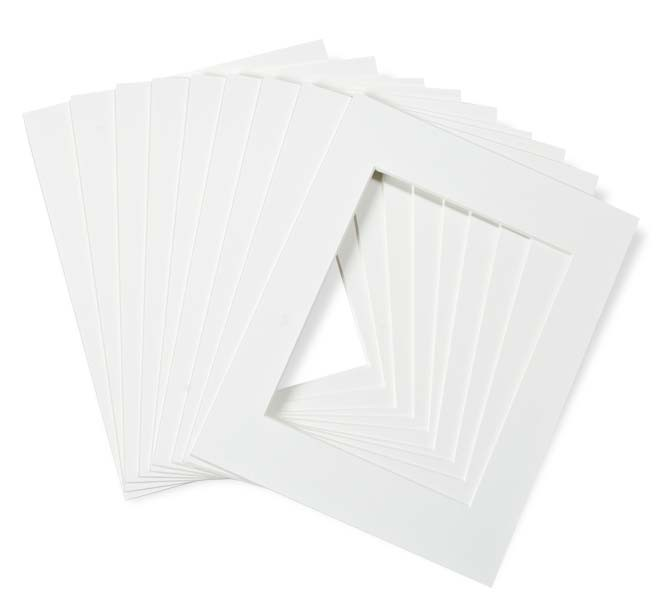 Crescent Select Pre Cut White Glove Mat 10 Packs