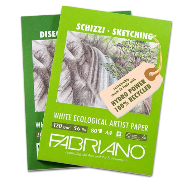 Fabriano Eco White Drawing Paper And Pads