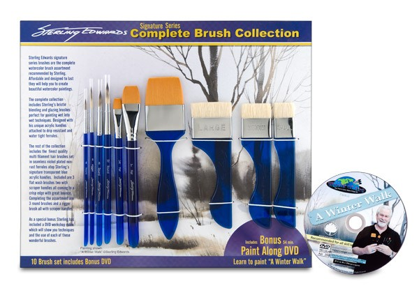 Sterling Edwards Signature Series Brush Set With Dvd