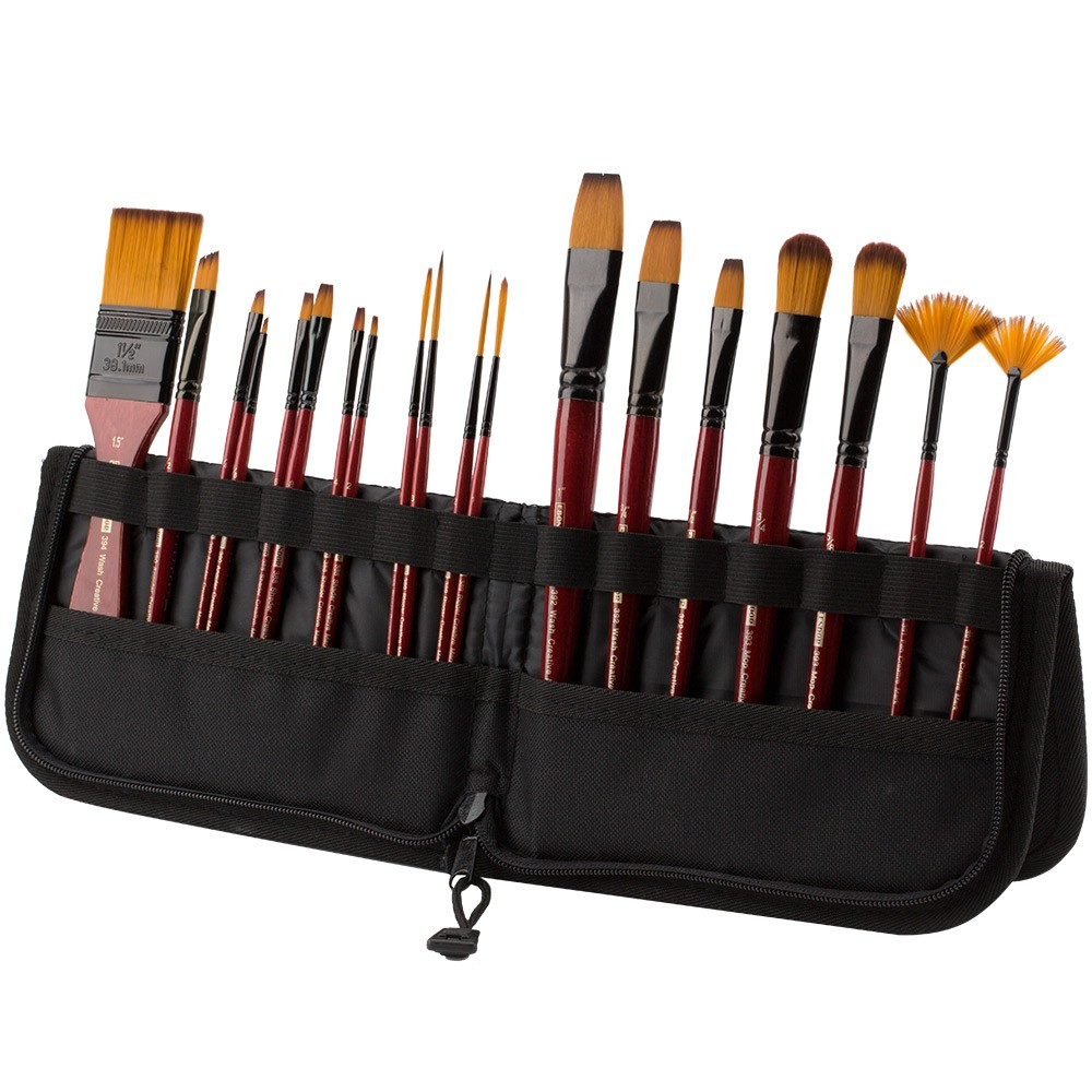 Short Handle Folding Brush Easel and Travel Case