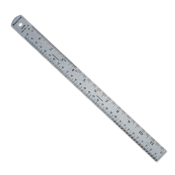 Staedtler Stainless Steel Cork Backed Ruler