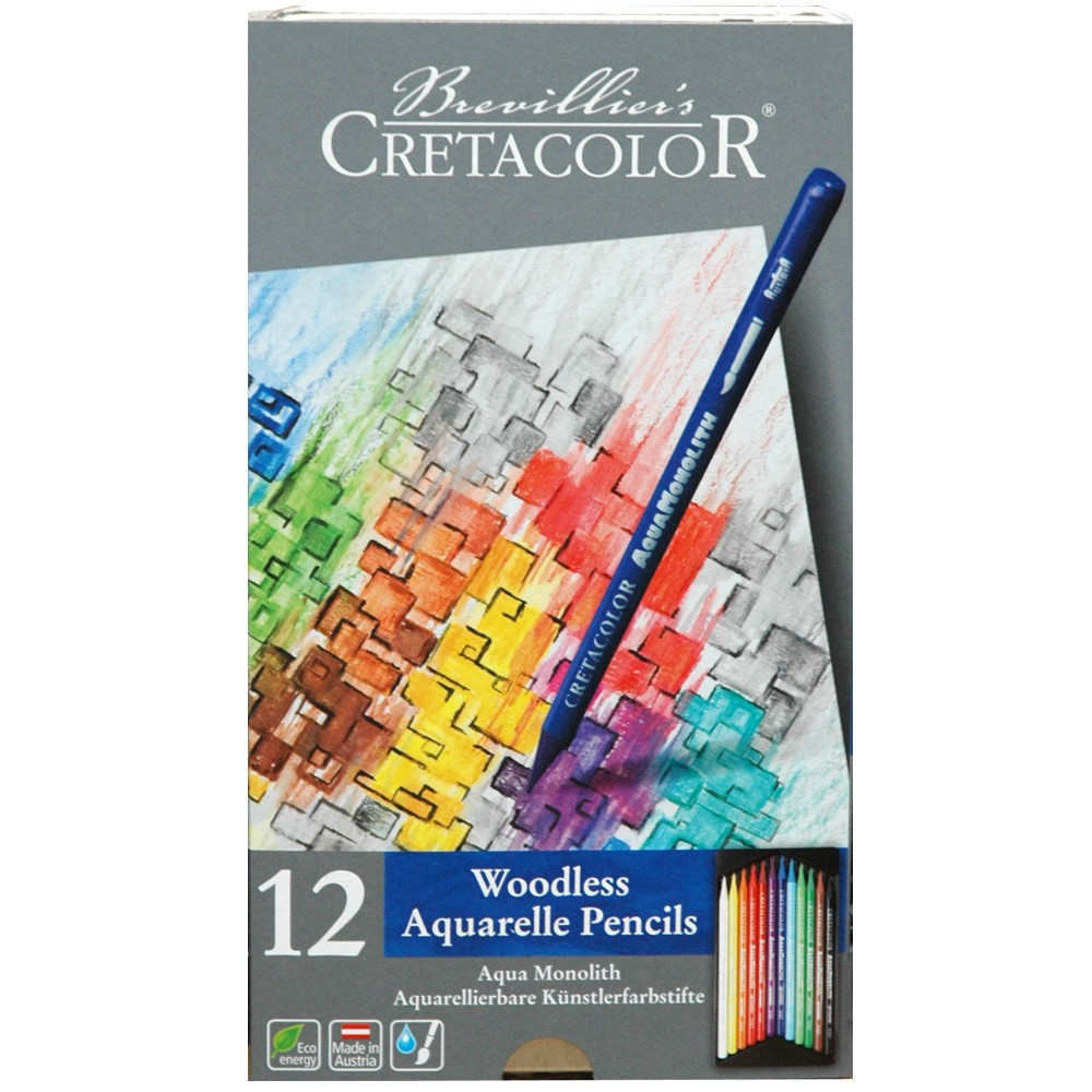 Cretacolor Aquamonolith Wet Or Dry Colored Pencil Sets