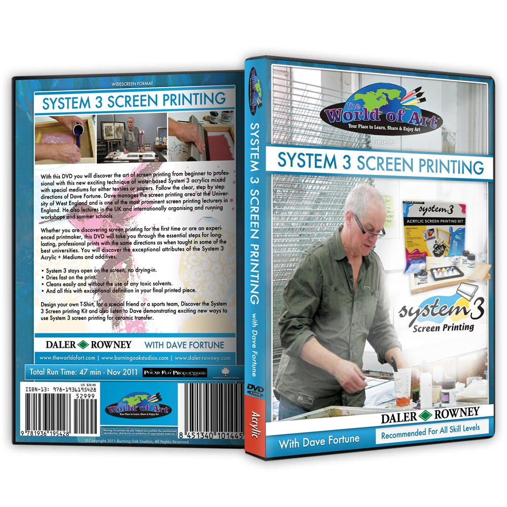 Dave Fortune DVDs Screen Printing Tips & Lessons