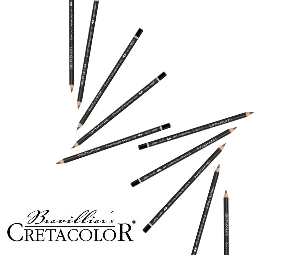 Cretacolor Charcoal Pencil 3pk