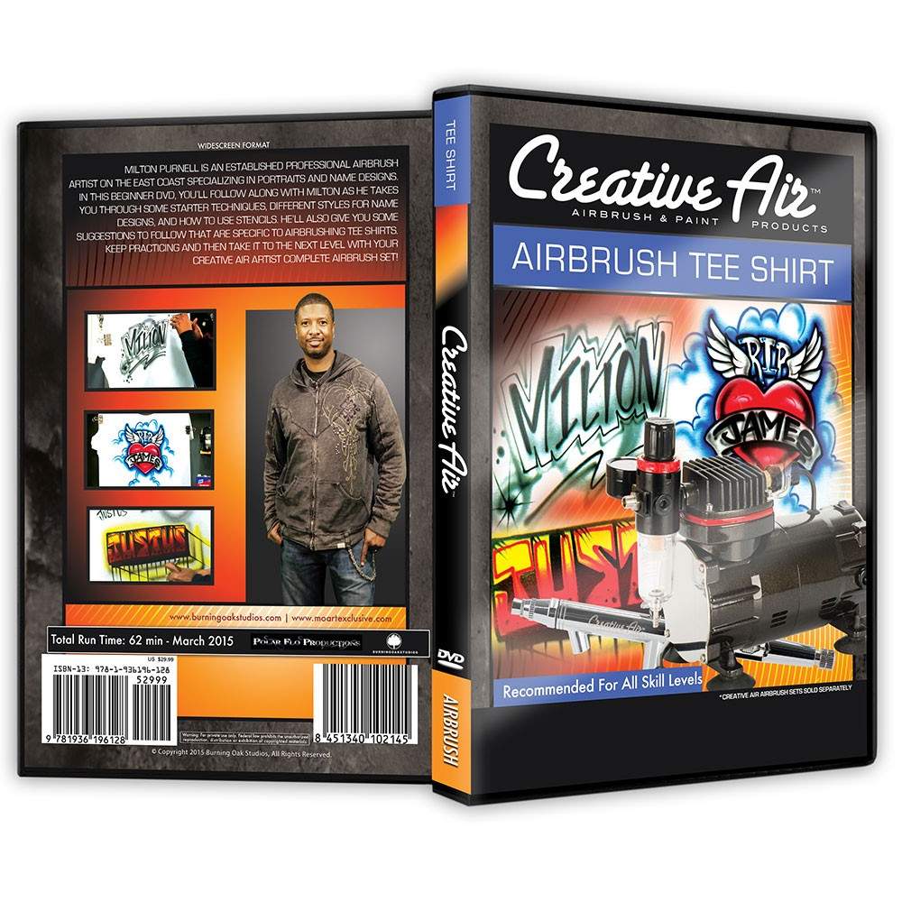 Creative Air Airbrush T Shirt DVD