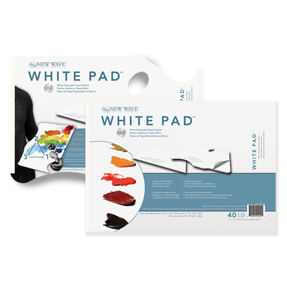 New Wave White Palette Pads