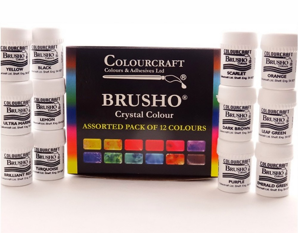 Brusho Crystal Colours Set of 12