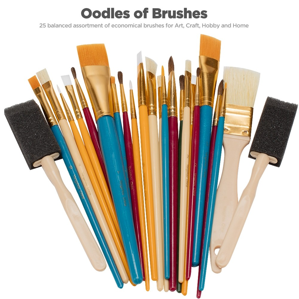 Oodles of Brushes Economincal Art Brush Set of 25