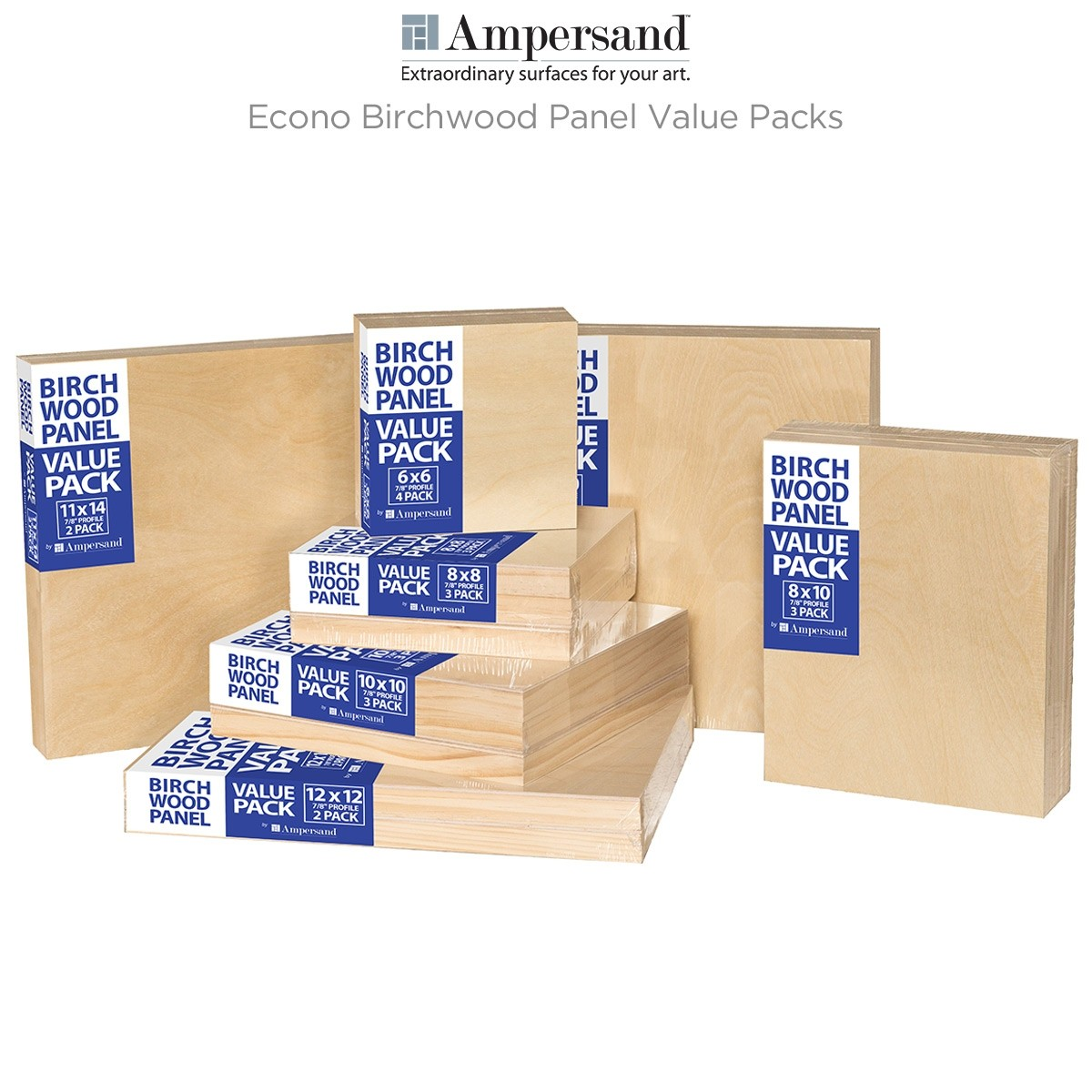 Ampersand Econo Birchwood Panel Value Packs