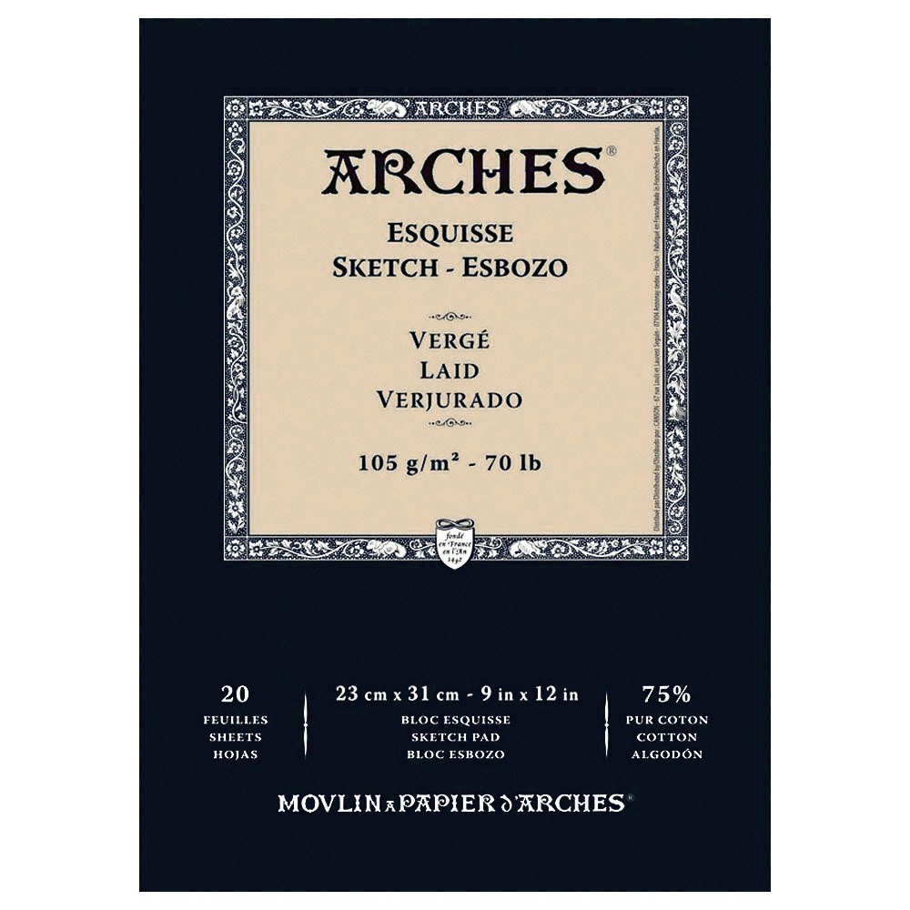Arches 100% Cotton Sketch Paper Pads Esquisse