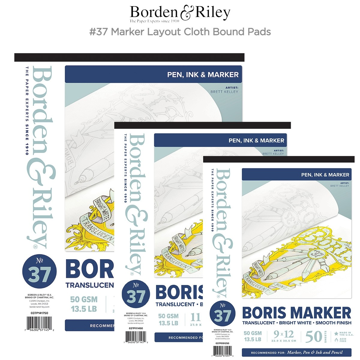 Borden & Riley #37 Marker Layout Cloth Bound Pads