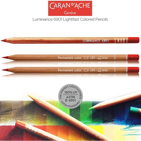 Caran d'Ache Luminance 6901 Pencils - Lightfast Colored Pencils