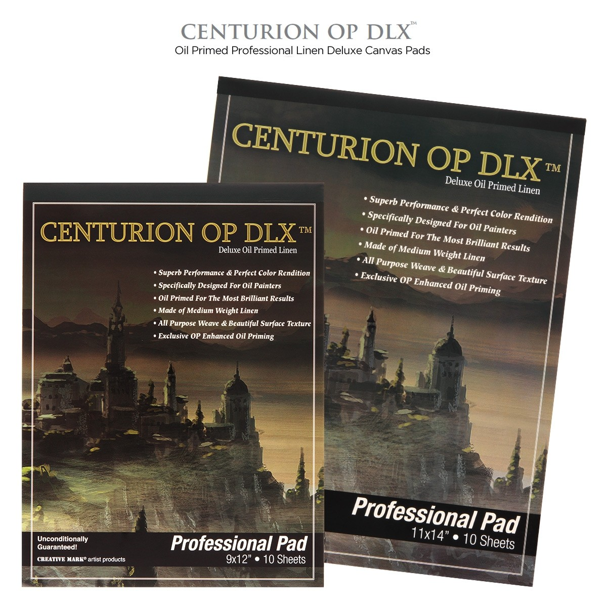 Centurion Deluxe Professional Oil Primed Linen Pads 10 Sheets