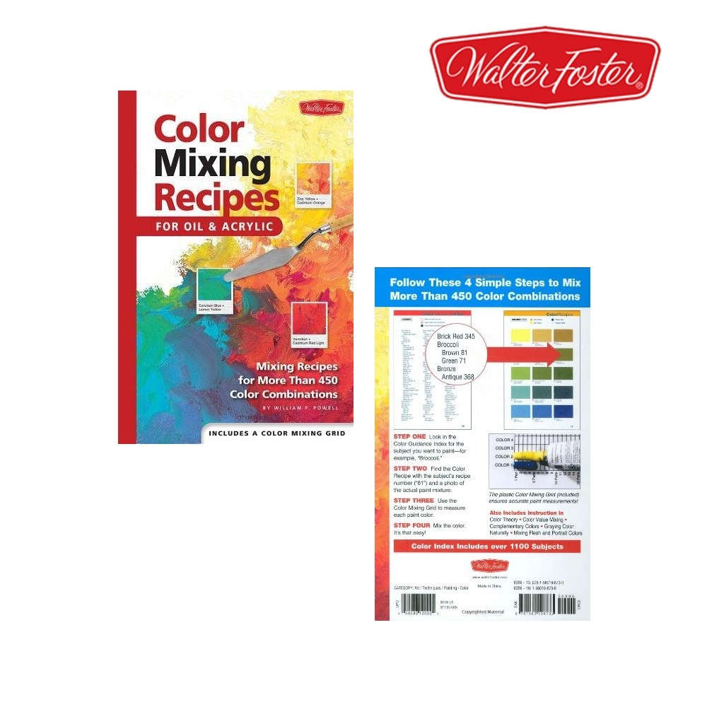 Color Mixing Recipes For Oils & Acrylics
