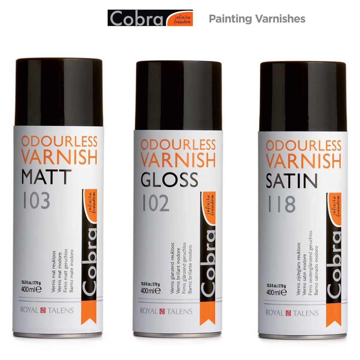 Royal Talens Cobra Painting Varnishes