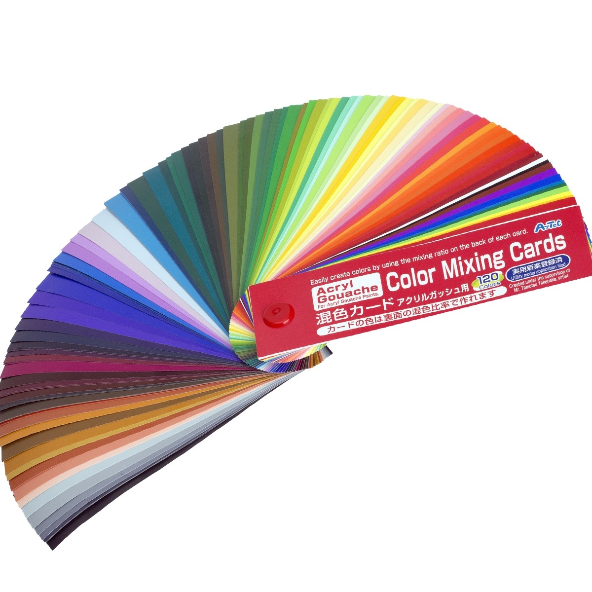 Color Mixing Guide For Mixing Paint by Turner Acryl Gouache Make 120 Colors