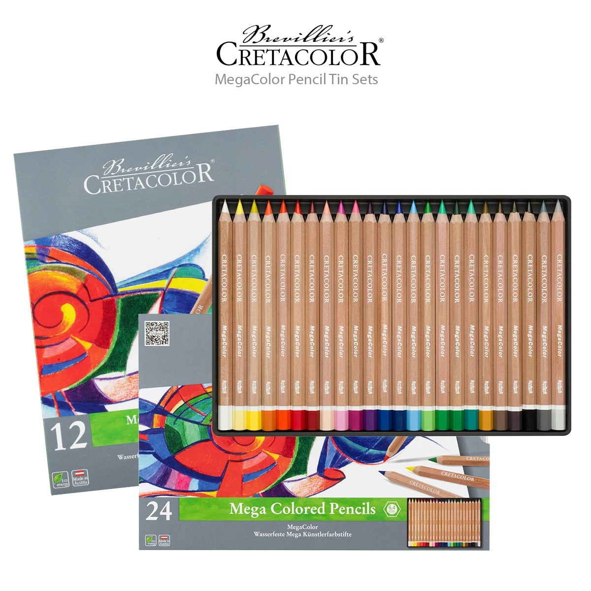Cretacolor MegaColor Pencil Tin Sets