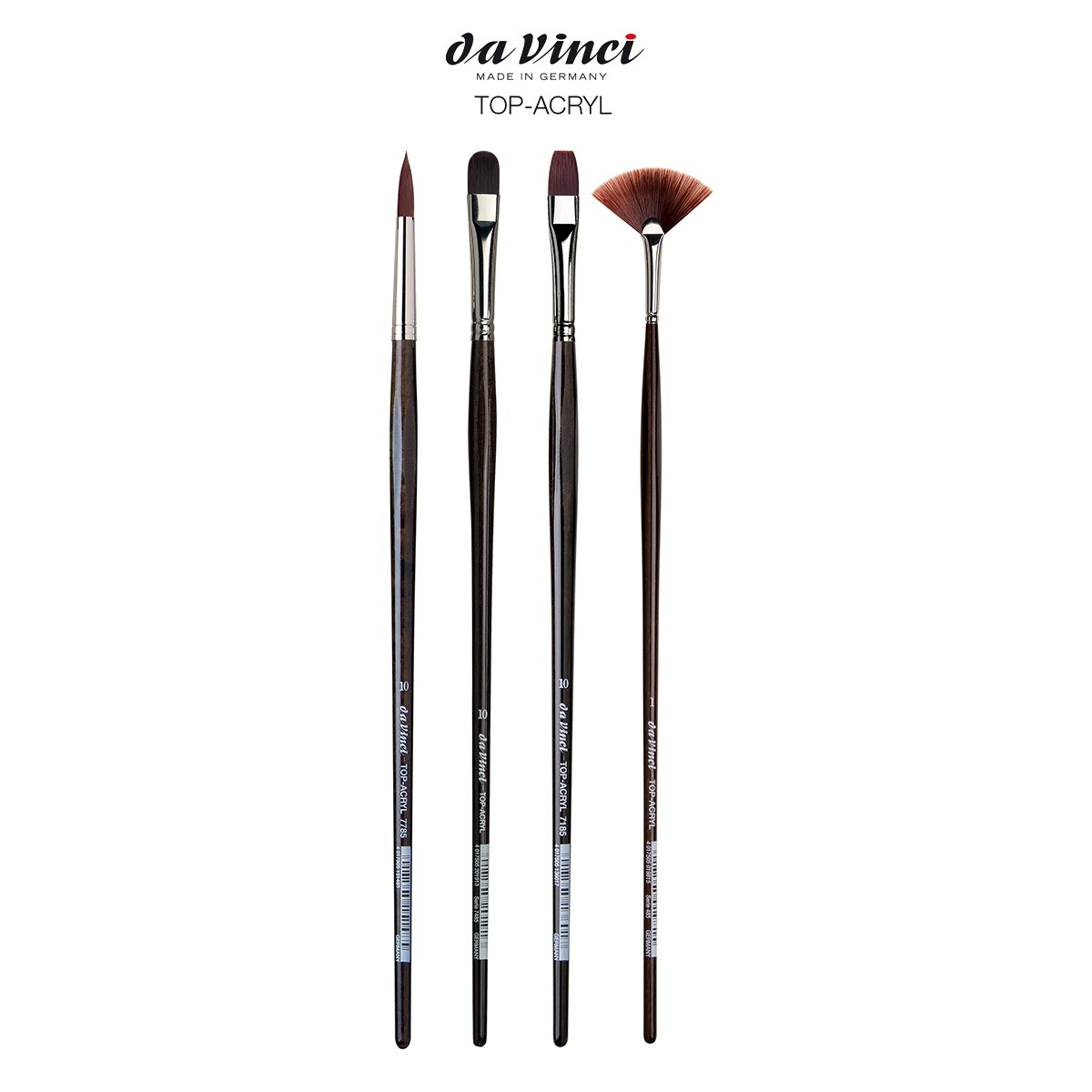 Da Vinci Top Acryl Long-Handle Synthetic Brushes