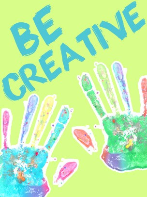 Kids Art eGift Card - Handprints on Green eGift Card