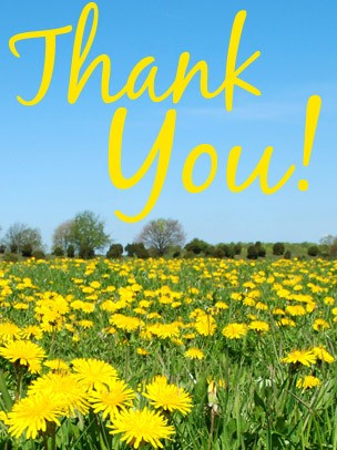 Thank You Art eGift Card - Field of Yellow Flowers eGift Card