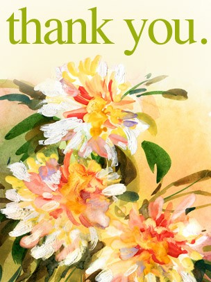 Thank You Art eGift Card - Painted Flowers eGift Card
