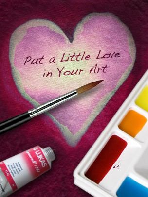 Valentine's Day Art eGift Card - Heart Painting - electronic gift card eGift Card