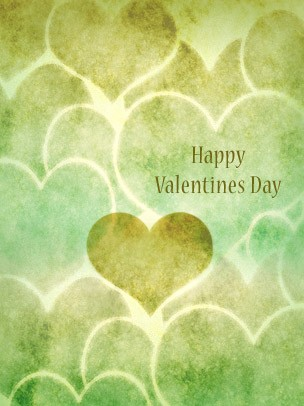Valentine's Day Art eGift Card - Green Hearts - electronic gift card eGift Card