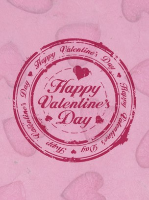 Valentine's Day Art eGift Card - Stamp On Pink - electronic gift card eGift Card