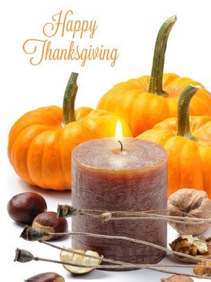 Thanksgiving Art eGift Card - Pumpkins and Candle - electronic gift card eGift Card eGift Card