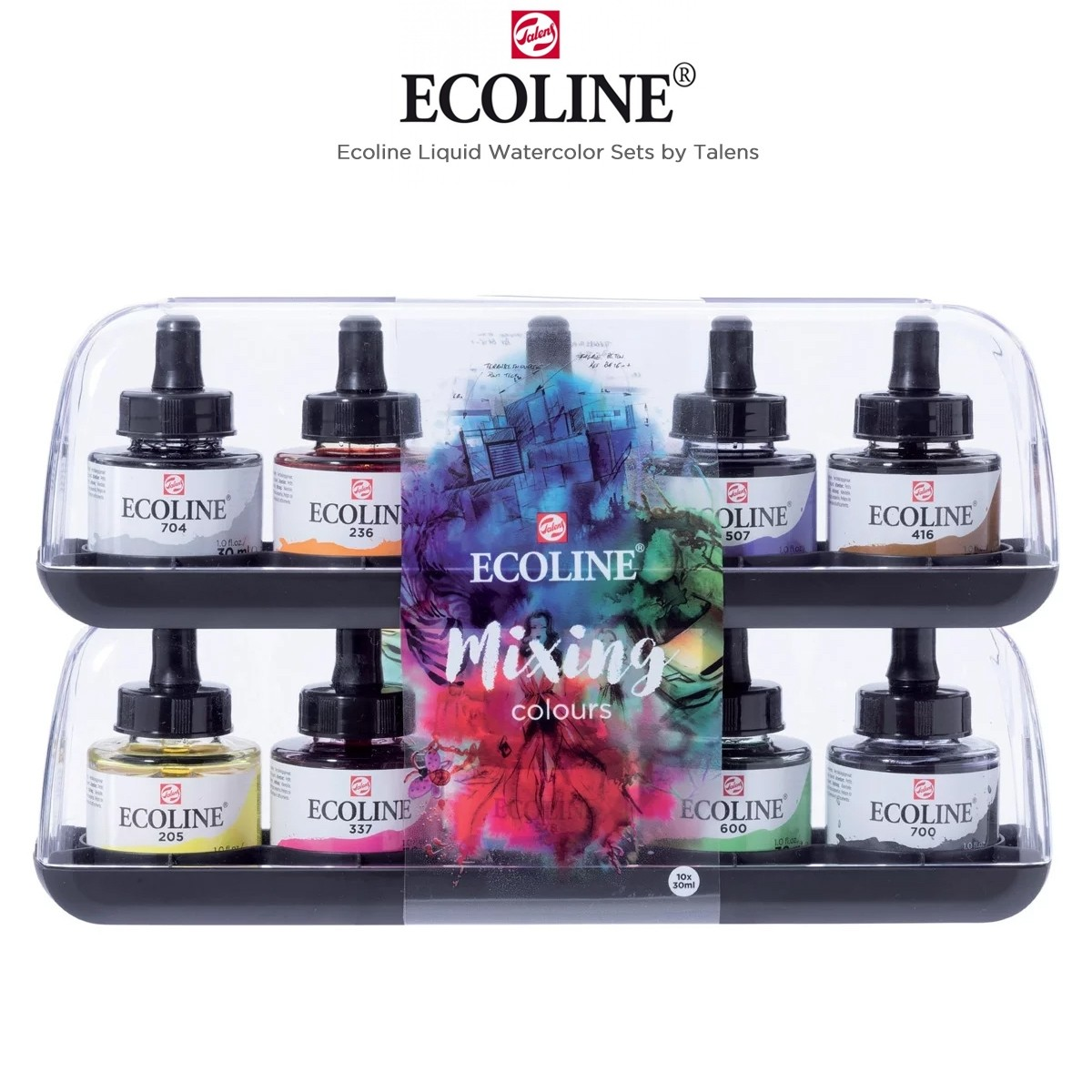 Ecoline Liquid Watercolour Dropper Jar Sets by Talens