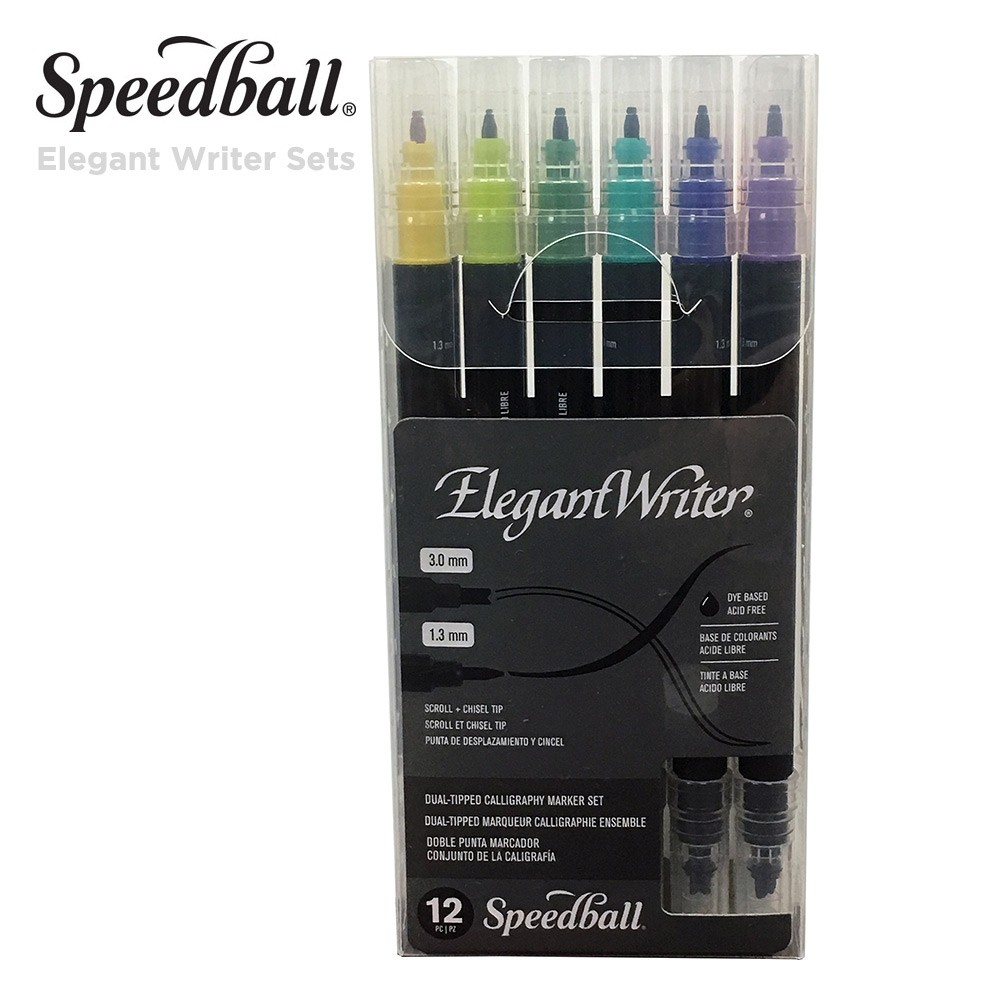 Elegant Writer Dual Tip Marker Set of 12