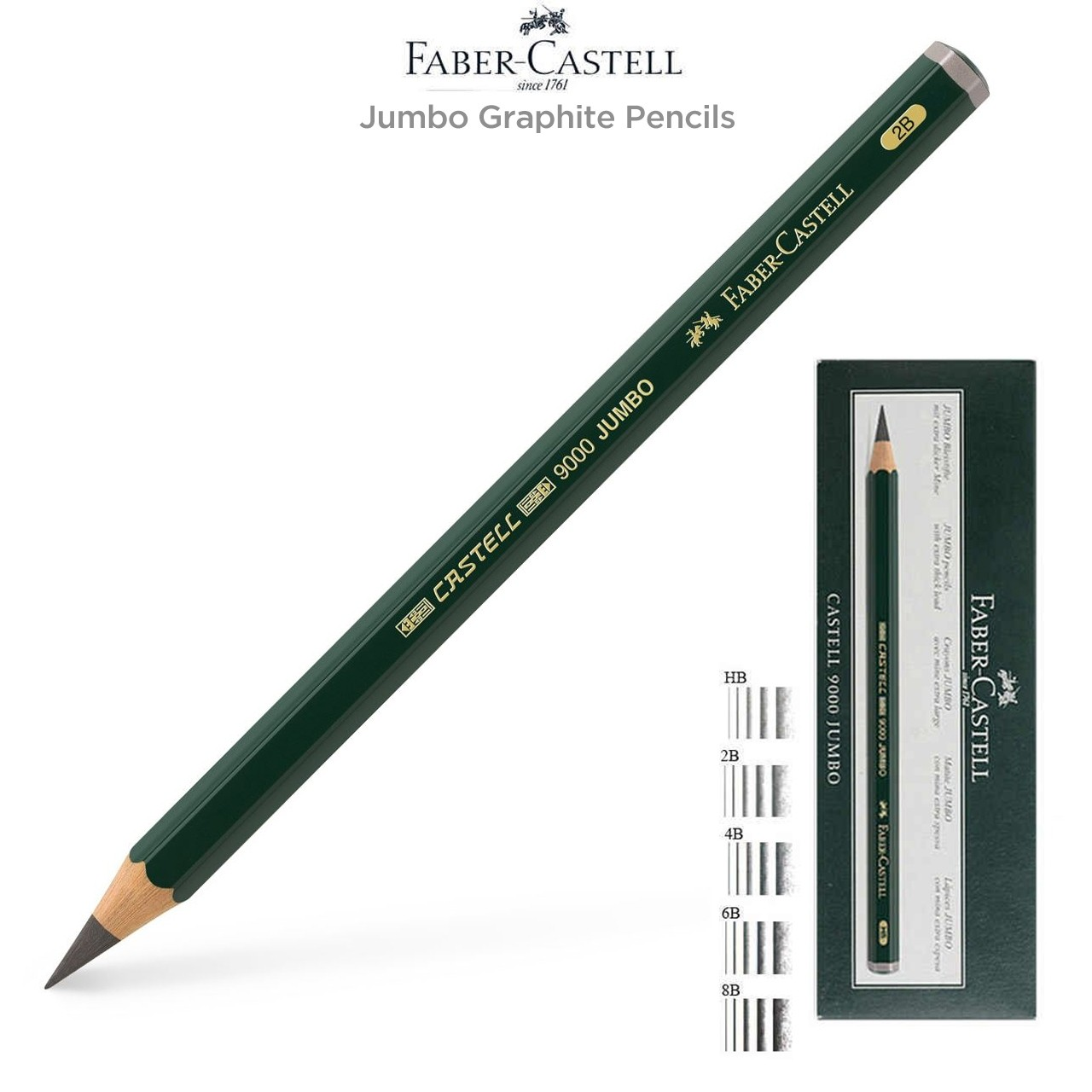 Faber-Castell 9000 Jumbo Graphite Pencils & Sets