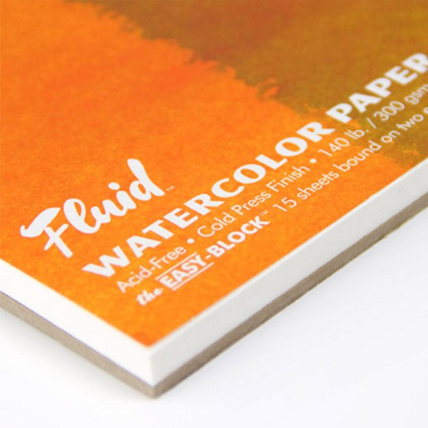 Fluid Watercolor Paper Easy Blocks