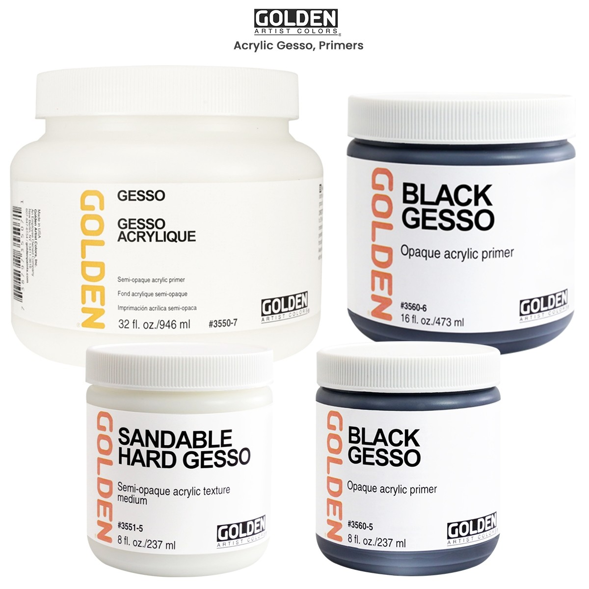 GOLDEN Gesso - Conform to a variety of texture without cracking!