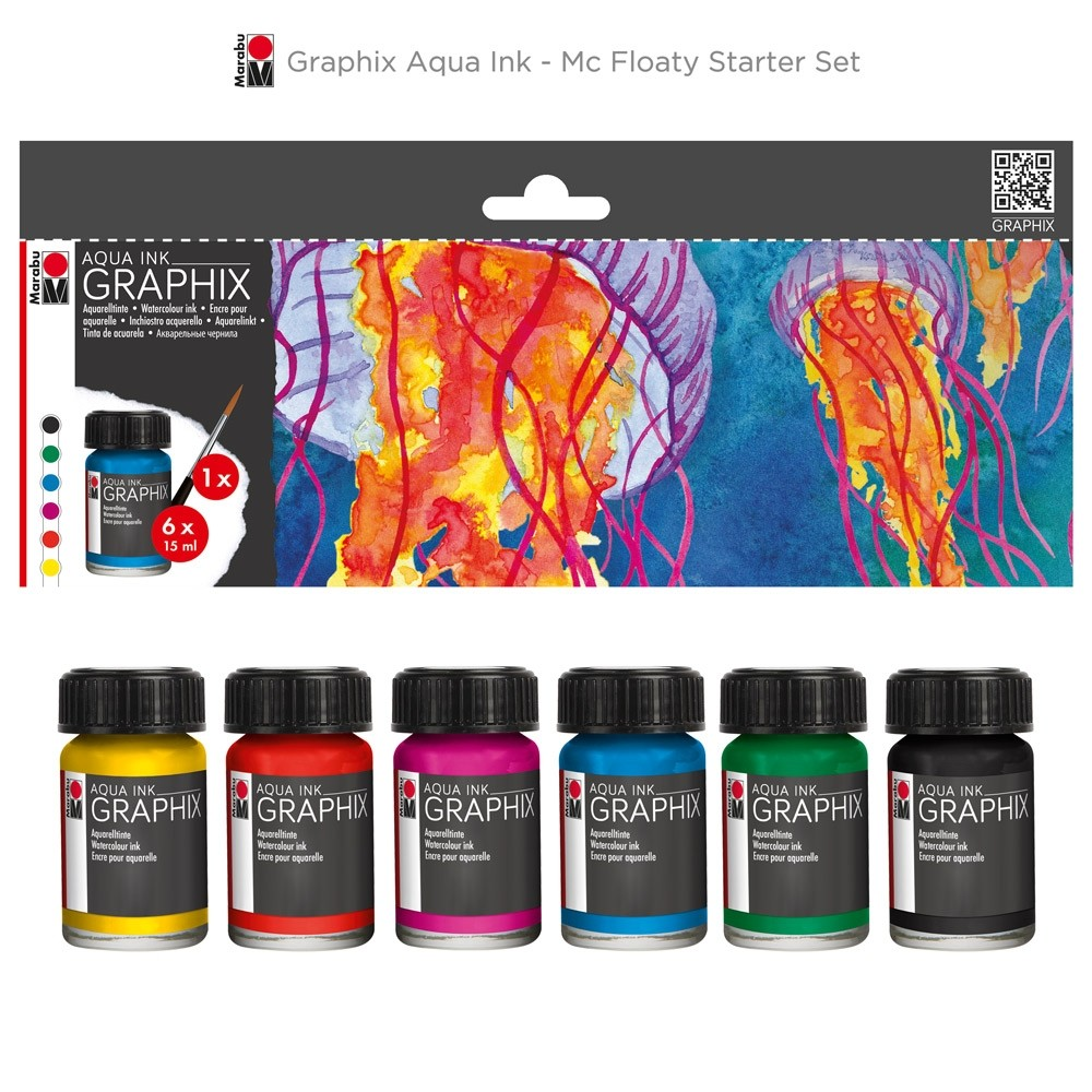 Marabu Graphix Aqua Ink Sets