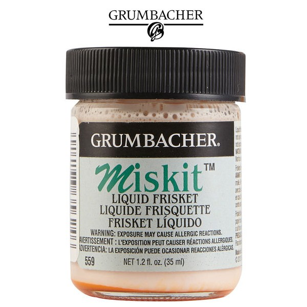 Grumbacher Miskit Liquid Frisket 1.2oz/35ml Jar