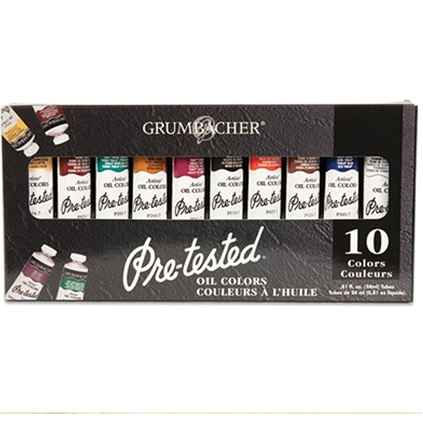 Grumbacher Pre-Tested Oil Color Set of 12