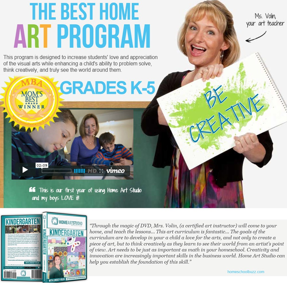 Award Winning Home Art Studio Program
