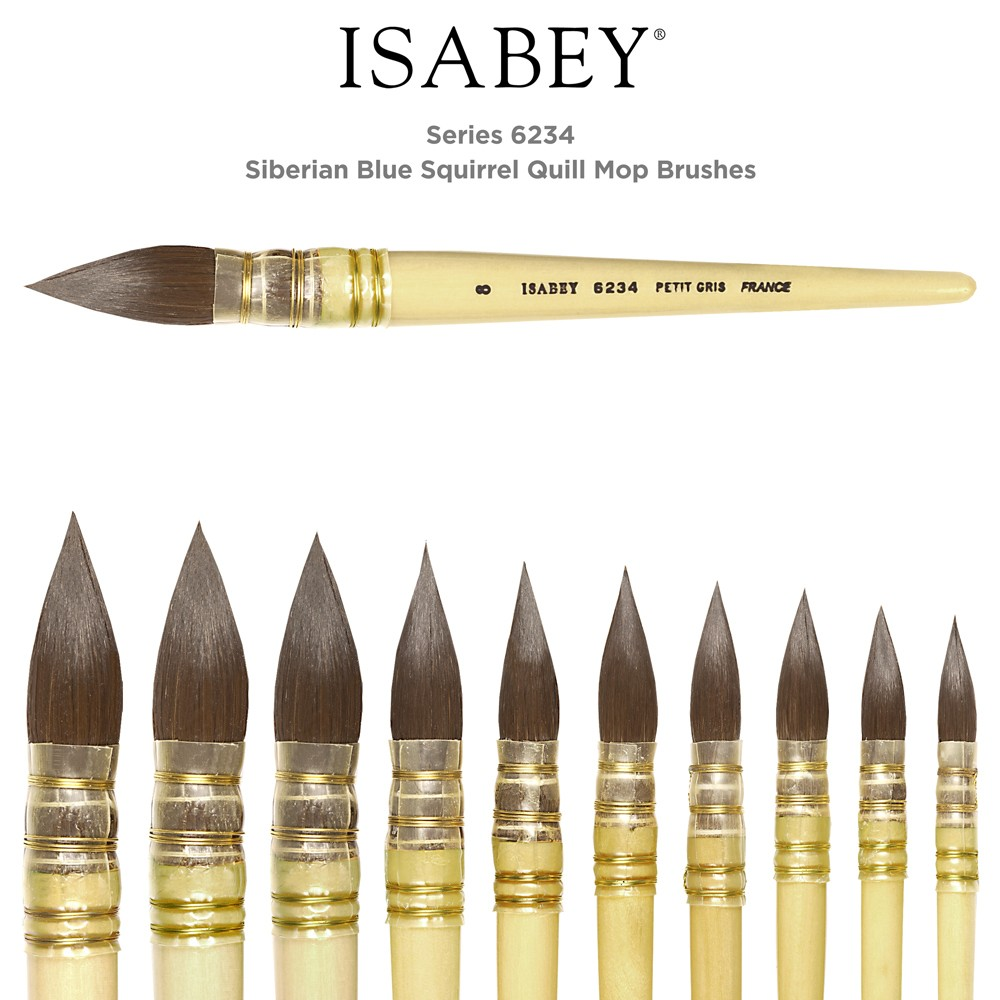Isabey Siberian Blue Squirrel Quill Mop Brushes - series 6234