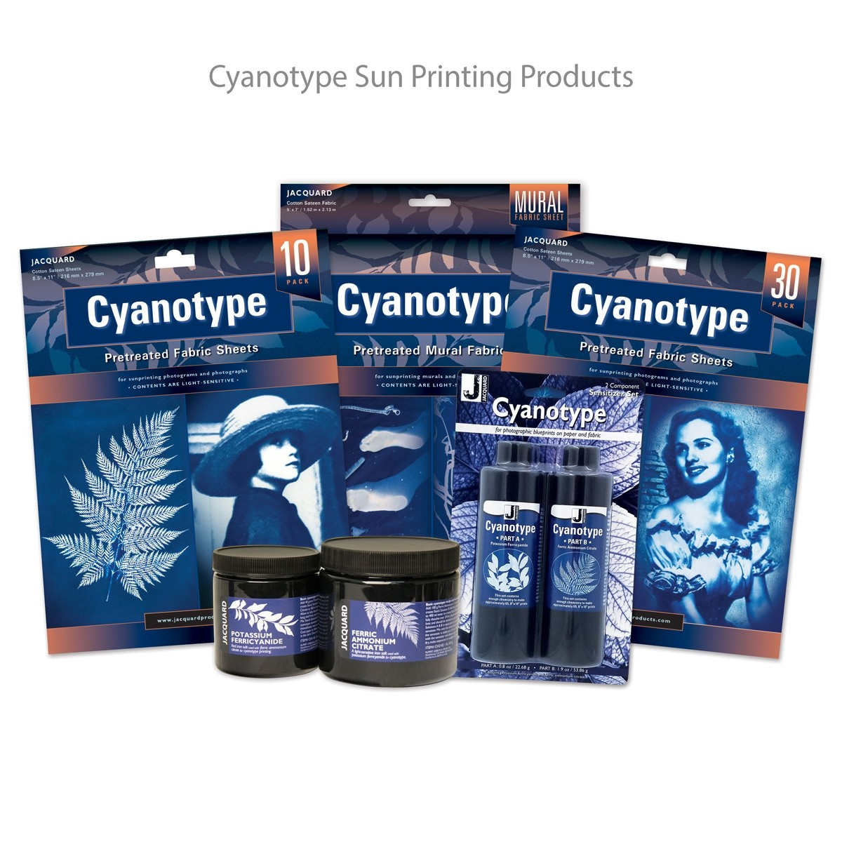 Jacquard Cyanotype Sun Printing Products