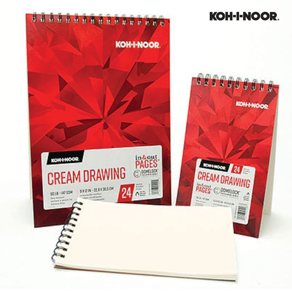 Cream Drawing Dual Wire Bound Pads