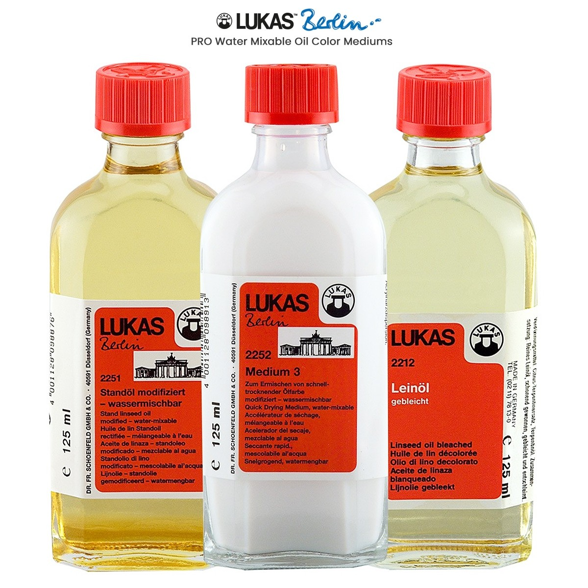 LUKAS Berlin PRO Artists Water Mixable Oil Painting Mediums
