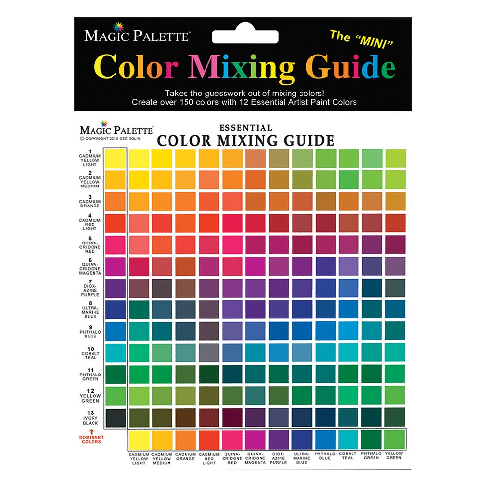 Magic Palette Mini Color Mixing Guide 150 Color Mixer Jerrys