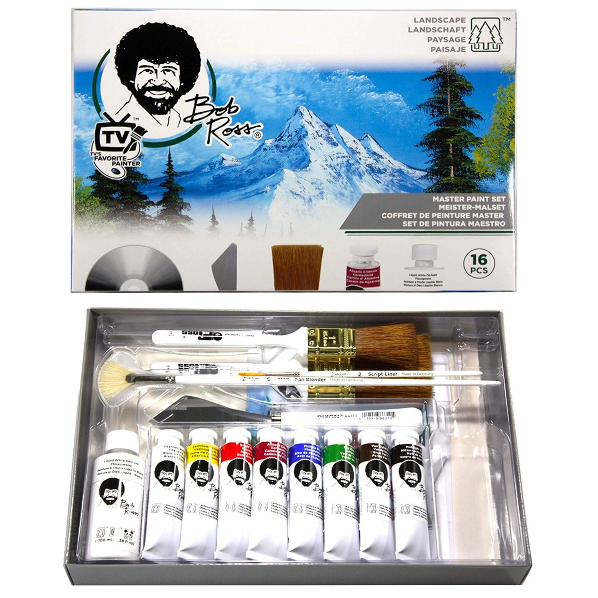 Oil Painting Deluxe Art Set 24 Oil Paint Set 25 Paint Brushes Painting